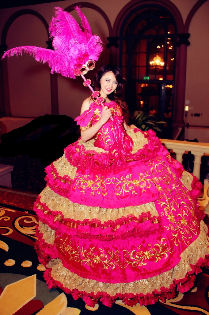 Sleeping Beauty - Spanish Quinceanera Puffy Dress