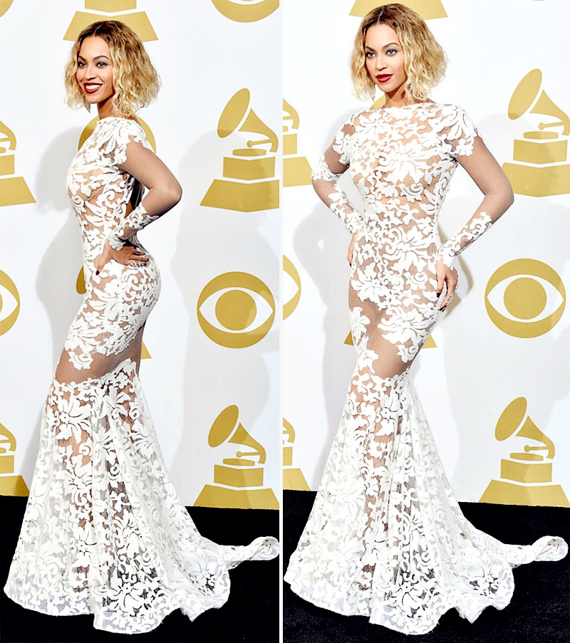 Michael Costello Beyonce Grammy 2014 Gown