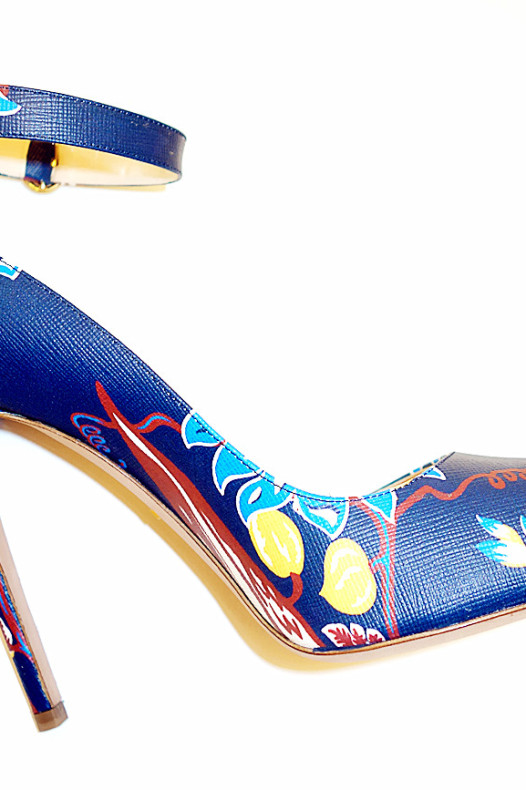 Prada Ramage Floral Heels