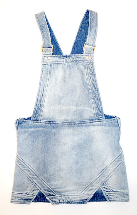 Finders Keepers Pawn Shop Blues Jean Overall Skirt
