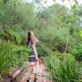 Clover Canyon Multicolor Neoprene Tobacco Field Dress