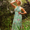 Lovers and Friends Green Floral Flashback Maxi Dress
