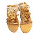 Marc Fisher Candice Gold Fringe Sandal