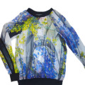 Clover Canyon Space Garden Printed Chiffon Sweatshirt