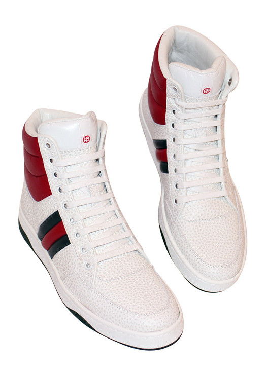 GUCCI RONNIE JUNIOR LEATHER HIGH-TOP SNEAKER-