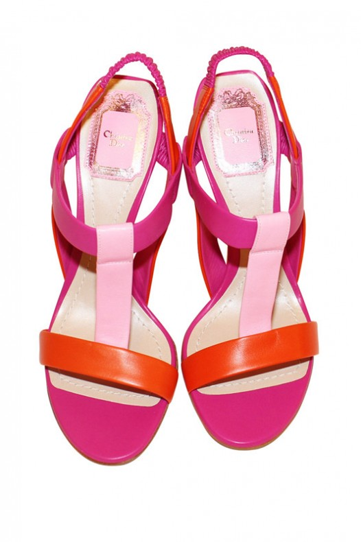 "Dior Tricolor ""Pulse"" T-Strap High Heel Sandal"