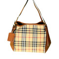 Honey/Tan Burberry Horseferry Check Small Canterbury Panels Tote