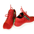 Giuseppe Zanotti Red Leather & Mesh Megatron Sneakers