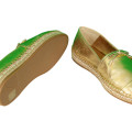 Prada Nappa Silk Gold Espadrilles Slip On