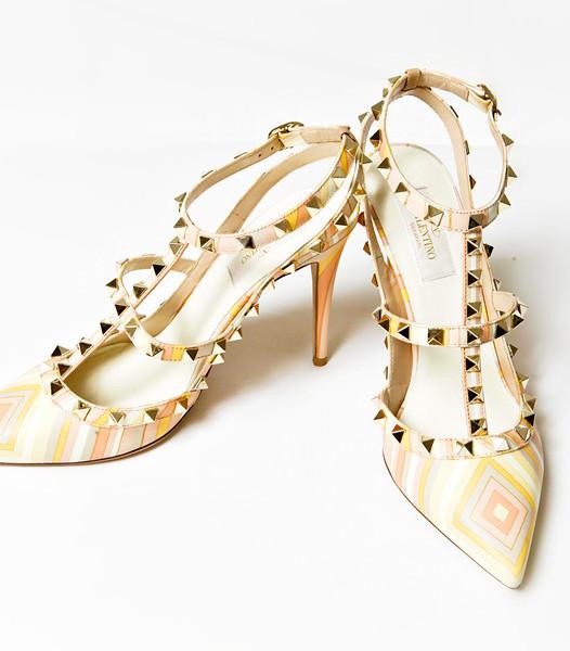 Valentino Garavani Ankle Strap Rockstud Native Couture 1975 print