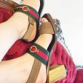 Gucci Querelle Web Suede Sandal