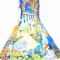 Clover Canyon Garden of Athena Perforated Flare Dress